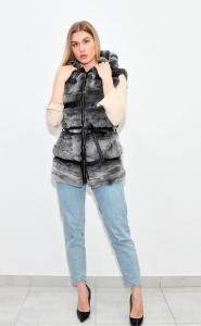 Γυναικείο γούνινο γιλέκο.